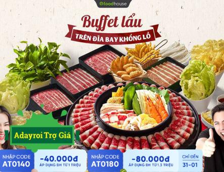 ADR Trợ Giá Buffet Lẩu Trên Đĩa Bay Khổng Lồ Có Một Không Hai Tại Việt Nam AD Toàn Hệ Thống Food House