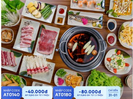 Thưởng Thức Buffet Nướng Lẩu Nhật Bản Menu Vip Tại Mura BBQ & Hotpot