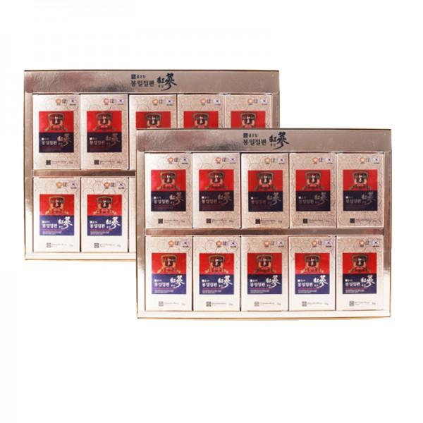 Bộ 20 hộp Hồng sâm lát 6 năm tẩm mật ong ChongKunDang (20g/hộp) + tặng 1 trà sâm Hàn Quốc