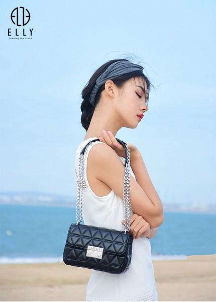 Túi xách nữ thời trang cao cấp ELLY- EL128 đen