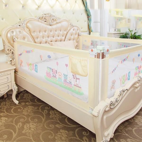 Thanh chắn giường mẫu 2019 cao cấp Babyqiner BQ-02 - 1M5 - Kem trượt lên xuống Giá 1 thanh