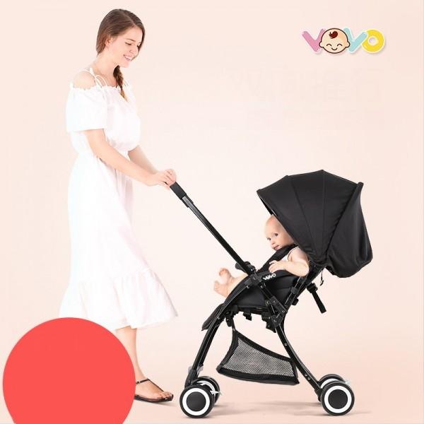 Xe đẩy em bé Vovo 2 chiều 3 tư thế siêu nhẹ - Đen