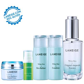 Bộ dưỡng trắng và bảo vệ da Laneige White Dew Original Ampoule Essence