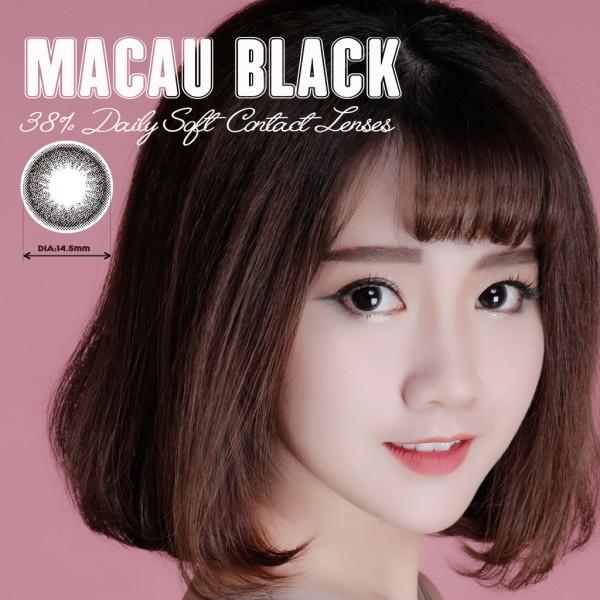 Kính áp tròng dùng 1 ngày Eye Secret màu Macau Black