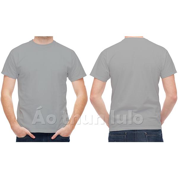 Áo thun cổ tròn - Màu xám tiêu
