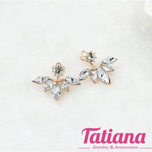 Bông Tai EarJacket Hoa Đá - Tatiana - BH2089