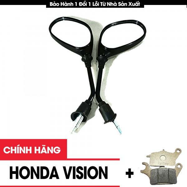 Gương Chiếu Hậu Xe Máy Honda Vision Chính Hãng Tặng Má Phanh Xe Máy
