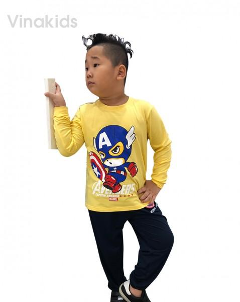 Đồ bộ bé trai siêu nhân Mavel vàng (sz 1-7 tuổi)