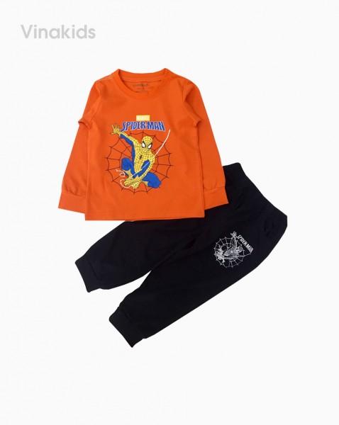 Đồ bộ bé trai dài tay siêu nhân mạng nhện màu cam (sz 1-7 tuổi)