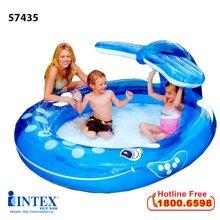 Bể bơi cá voi xanh có vòi phun mưa INTEX 57435