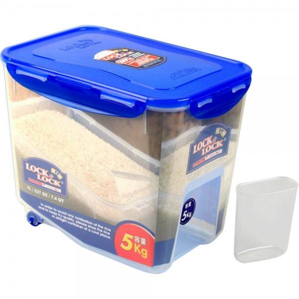 Thùng đựng gạo Lock&lock 5kg HPL500 có bánh xe Kèm cốc đong gạo