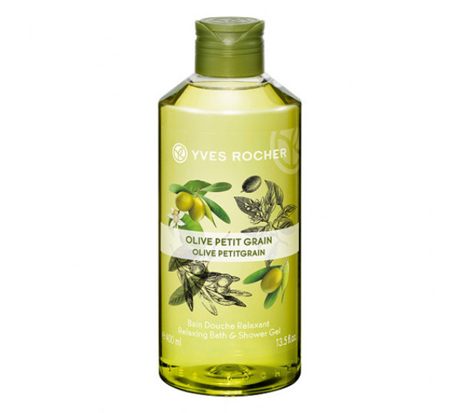 Gel Tắm Yves Rocher Dưỡng Da Chiết Xuất Olive 400ml Relaxing Bath & Shower Gel
