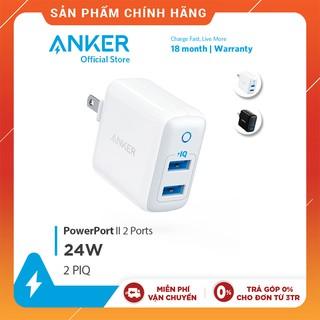 Sạc ANKER PowerPort II 2 cổng PIQ 24w - A2027