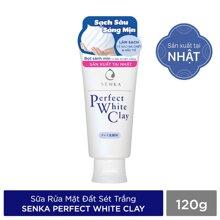 SENKA Sữa Rửa Mặt Tạo Bọt Senka Perfect White Clay 120g