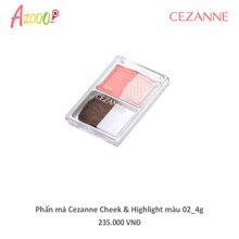 Phấn má Cezanne Cheek & Highlight màu 02 4g_40033