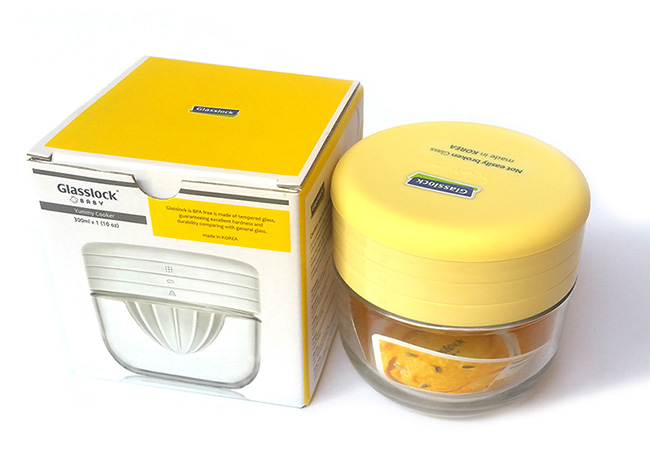 Bộ vắt cam thủy tinh kèm dụng cụ chế biến đồ ăn dặm Glasslock GL1232