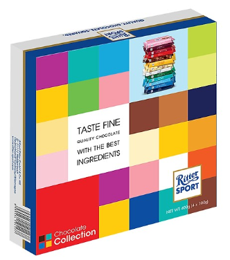 Hộp Quà Socola Ritter Sport Collection 4 Thanh x 100g