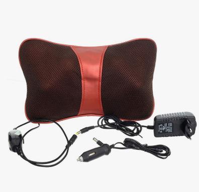 Gối Massage Hồng Ngoại Magic Puli 818  Đỏ Mag001 + Tặng Máy Massage Mặt Bằng Ion Dưỡng Trắng Da Massageion