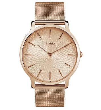 Đồng Hồ Nữ Dây Kim Loại Timex Metropolitan TW2R49400 40mm - Vàng Hồng