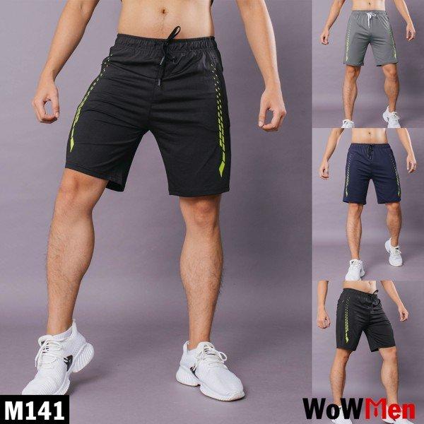 Quần Short Nam Thun Lạnh Thể Thao Tập Gym Sọc Dọc - M141