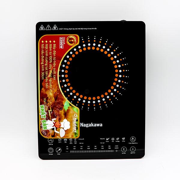 Combo Bếp từ đơn kèm nồi lẩu Nagakawa NAG0703 (2200W) và Bộ 3 nồi inox 4 đáy NAG1306 (16cm, 20cm, 24cm) - Hàng chính hãng