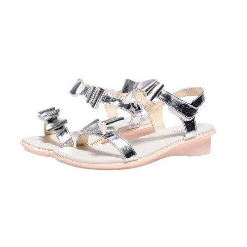 Giày Sandal Si PU Bé Gái Biti's DPB050288 XDG-VAG-BAC-HOG (Size 28-30)