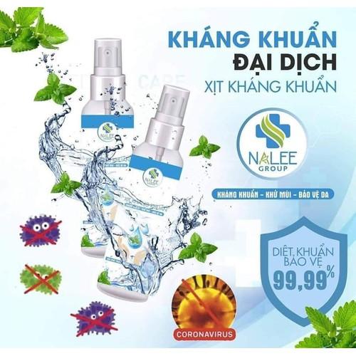 Xịt Kháng Khuẩn NaLee Group 100ml Chống Đại Dịch 2020 - Chính Hãng - XKK0415
