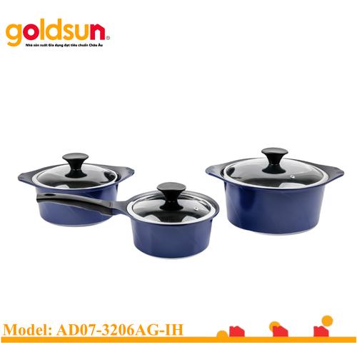Bộ nồi nhôm đúc đáy từ Goldsun AD07-3206AG-IH