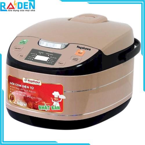 Nồi cơm điện tử 1.8L Nagakawa NAG0103 đa chức năng nấu và chế độ giữ ấm cơm