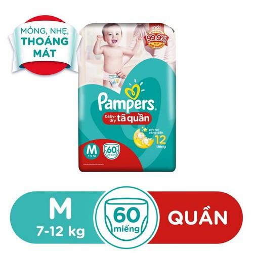 Tã Quần Pampers Baby-Dry Bịch Jumbo M60