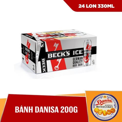 [HCM] Combo Thùng 24 lon Becks Ice Phiên Bản Tết & Bánh Danisa 200g